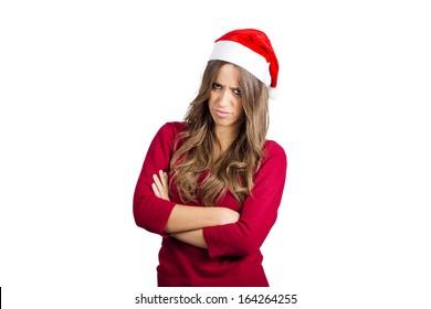 photo of Christmas angry girl