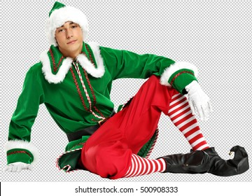 photo of christmas elf with saved path