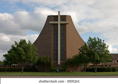 photo of a church facade in plano texas
