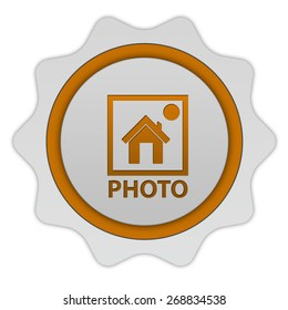 photo circular icon on white background