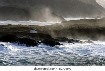 photo of cliffs, waves crashing,Tour of Spain,Church Virgen del Puerto, Valdoviño, A Coruña,separating the Atlantic and Cantabrian oldest rocks in the world,Galicia, barnacles, photos of giant waves,