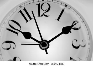 Photo clock face. Close-up