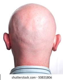 photo close up male shaved bald head