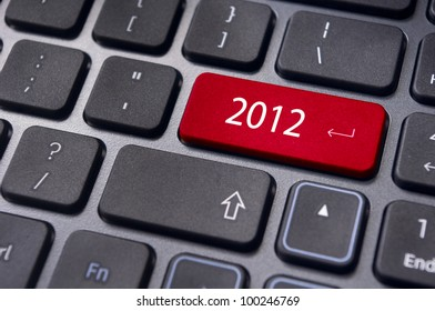 Photo of close up on keyboard pad, for 2012 year conceptual usage.