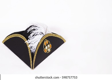 photo of cocked hat on a white background