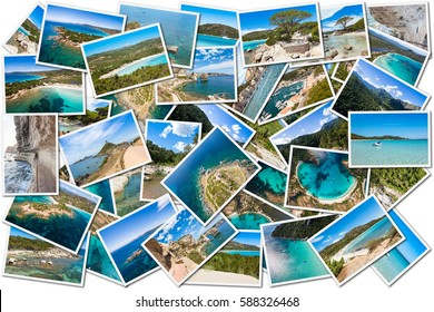 Photo collage of Corsica landscape in France