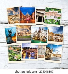photo collage of historical views of Rome