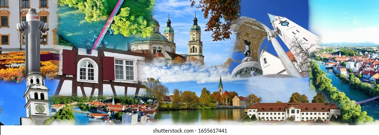 Photo collage of Kempten, the oldest city in Germany