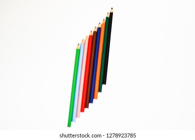 Colorful Three Pencil Stock Vector (Royalty Free) 1322861231