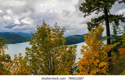 photo of a colorful Fall Landscape in Sasquatch Provincial Park, Kent, British Columbia, Canada