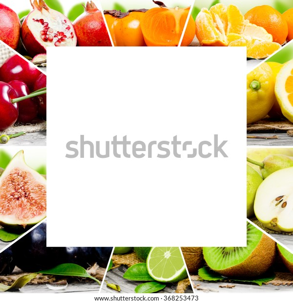 Photo Colorful Fruit Mix White Square Stock Photo Edit Now