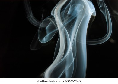 Photo of Colorful Smoke abstract in Vertical Form/ Blue Vertical Smoke