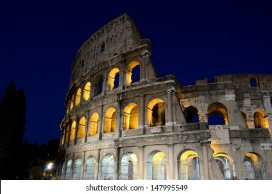 Photo of the Colosseum in Rome, one of the seven wonders of the world.