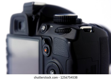 Photo of a command dial of a DSLR camera