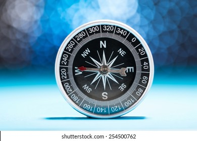 Photo Of Compass Needle Pointing To West Direction