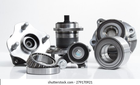 Photo composition which consists of a diverse group of bearings and rollers for industrial use