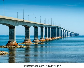 Photo of the Confederation Bridge from New Brunswick to Prince Edward Island.