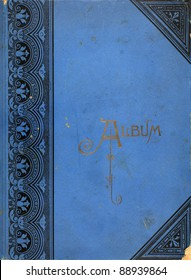 Photo of the cover of a photo album from the 1920s.