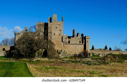 Photo of Craigmillar castle, Scotland shot early in the morning in April. Edinburgh other castle, stands one mile outside the old city walls. Used by Mary queen of Scots.