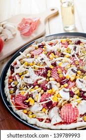 Photo of delicious italian pizza