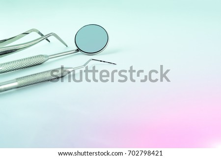 e1cc198639fc Photo Dental Instruments Mirror Probe Tweezers Stock Photo (Edit Now ...