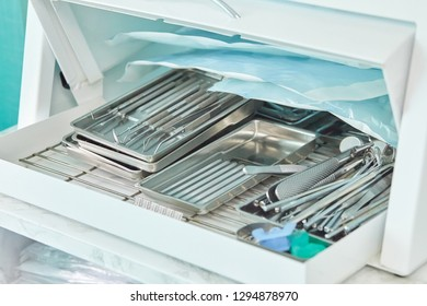 photo of dental tools in sterilizer