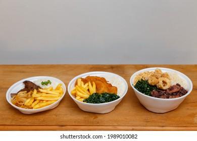 photo of different delicious marmitex