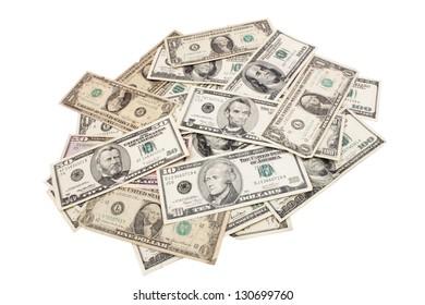 Photo of Dollars spreaded