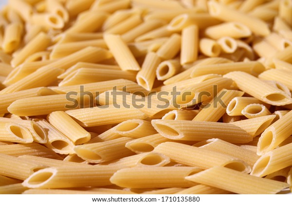 Photo of dried penne pasta