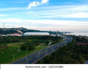 Photo drone close to the Beira-Rio stadium in Porto Alegre RS Brazil