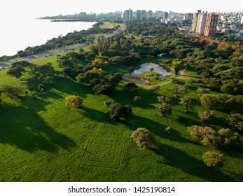 Photo drone in the marine park in Porto Alegre RS Brazil