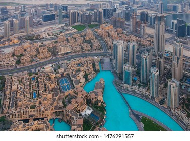 photo of Dubai skyline with beautiful city at sunset
