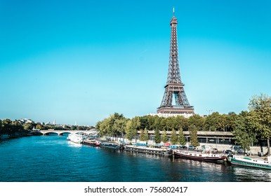 Photo of Eiffel Tower and The Seine River in Paris, France