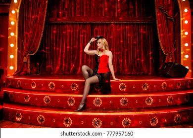 photo of Elegant dancer in style on the scene