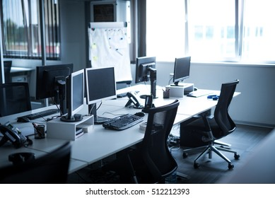 Photo of an empty work space on a day light.