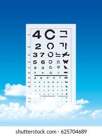 photo / Eyesight test / Ophthalmology