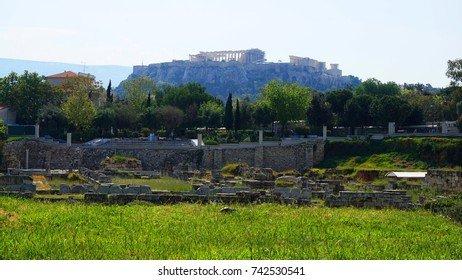 Photo from famous archaeological site of Kerameikos in Athens historic center, Attica, Greece
