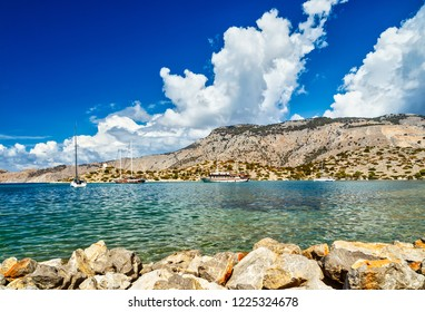 Photo from famous bay of Panormitis, Symi island, Dodecanese, Greece