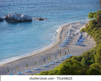Photo from famous island of Skopelos with clear water beaches and traditional character, Sporades, Greece