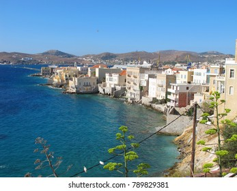 Photo from famous and picturesque district of Vaporia, Ermoupoli, Syros island, Cyclades, Greece