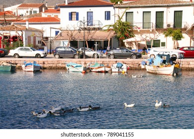 Photo from famous picturesque port of traditional marine village of Galaxidi, Fokida, Greece
