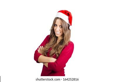 Photo of fashion Christmas smiling girl