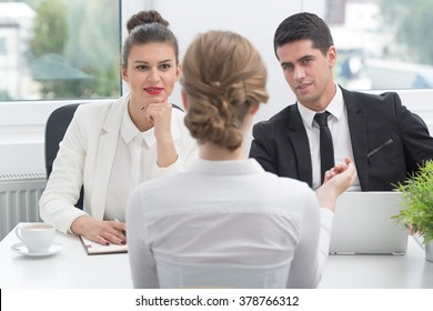 Photo of female applicant during job interview