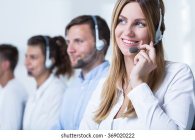 Photo of female call agent working in tele service