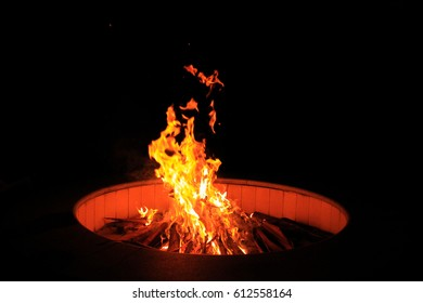 Photo of fire in firepit