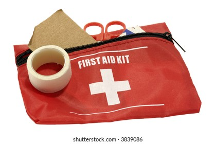Photo of a First Aid Kit - Isolated - Health Related