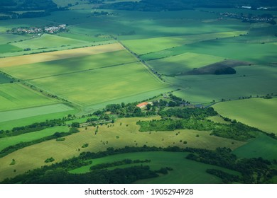 photo from the flight over the surroundings of Mlada Boleslav
