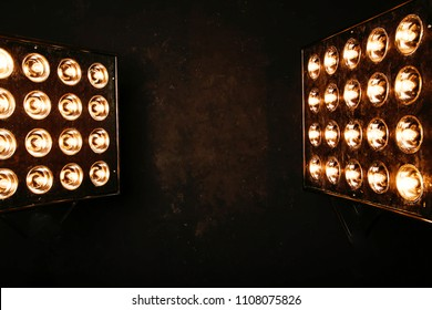 photo of Floodlights Flash lights.Spotlights