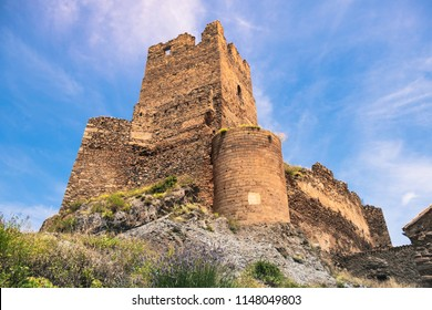 Photo at the foot of the castle of Vozmediano, in Soria, Spain