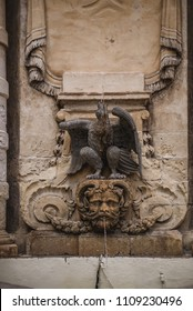 Photo of Fountain in front of the main guard building in St Georges Square, Valletta, Malta, Europe.